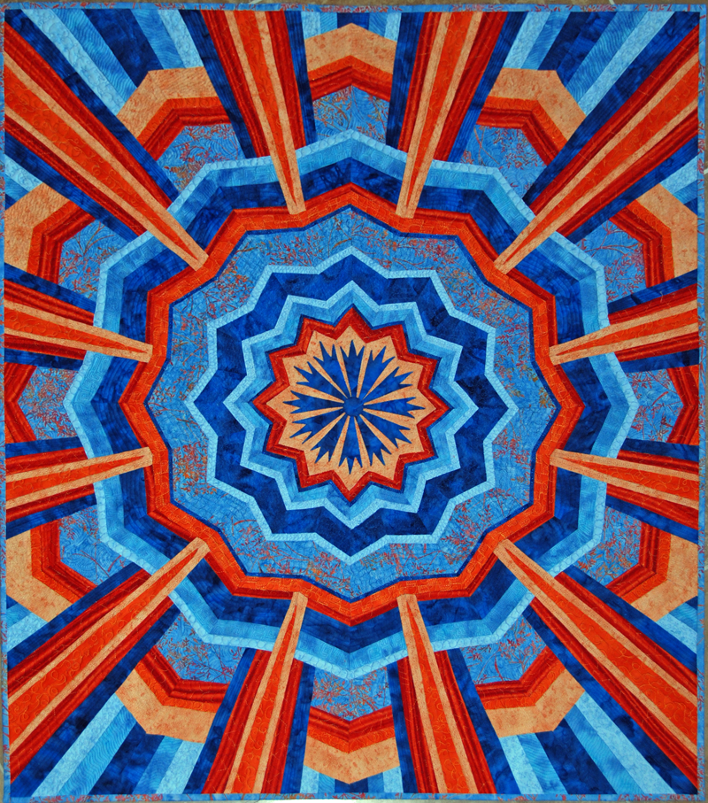 Susan Garrity Art Quilts : blue and orange quilt - Adamdwight.com